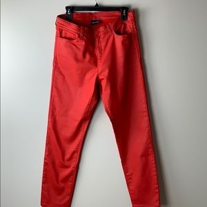 Emporio Armani Red Super Skinny J20 Jeans coated